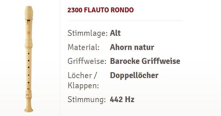 Moeck Flauto Rondo Alt-Flöte 2300