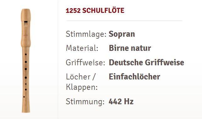 Moeck Sopran Blockflöte 1252