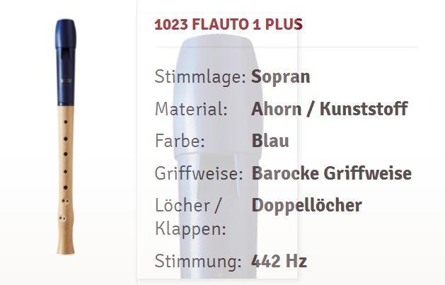 Moeck Flauto 1 Plus 1023 Sopranflöte