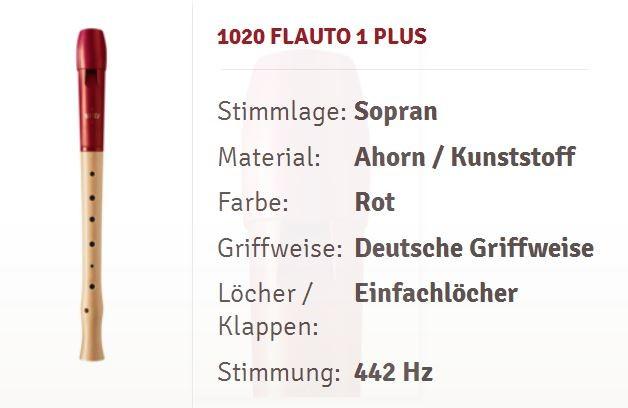 Moeck Flauto 1 Plus 1020 Sopranflöte