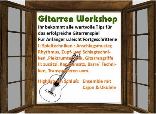 Gitarrenanfänger -3 Stunden Workshop am 16.Jan.2016